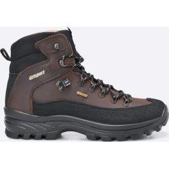 Grisport - Buty. Czarne buty trekkingowe męskie Grisport, na zimę, z materiału, na sznurówki, outdoorowe. Za 329,90 zł.