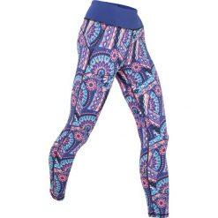 Legginsy sportowe ze stretchem, dł. 7/8, Level 1 bonprix szafirowy wzorzysty. Niebieskie legginsy we wzory bonprix. Za 74,99 zł.