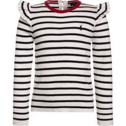 Swetry chłopięce: Polo Ralph Lauren STRIPE Sweter clubhouse cream/hunter navy