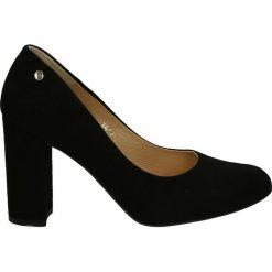 Czółenka - 101496 CAM NE. Czarne buty ślubne damskie Venezia, ze skóry. Za 319,00 zł.