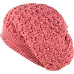 Czapka damska Ażurowa różowa. Czerwone czapki zimowe damskie marki Art of Polo, w ażurowe wzory. Za 37,60 zł.