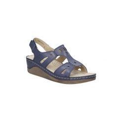 Rzymianki damskie: Sandały Casu  Sandały ażurowe na koturnie  BZ8409-J10