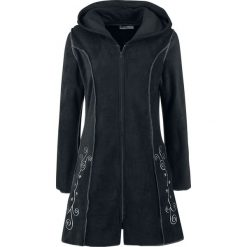 Innocent Embroidered Fleece Hood Bluza z kapturem rozpinana czarny. Niebieskie bluzy rozpinane damskie marki Innocent, xl, w ażurowe wzory, z materiału, z dekoltem na plecach. Za 224,90 zł.