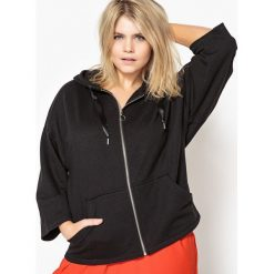 Swetry damskie: Szeroka bluza na suwak
