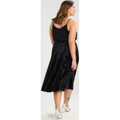 Spódniczki trapezowe: Glamorous Curve PLISSE MIDI SKIRT Spódnica trapezowa black