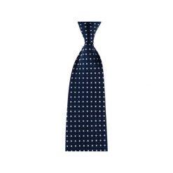 Krawaty męskie: Krawat granatowy kropki gęste