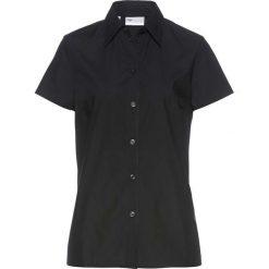 Bluzka z krótkim rękawem bonprix czarny. Czarne bluzki asymetryczne bonprix, z krótkim rękawem. Za 37,99 zł.