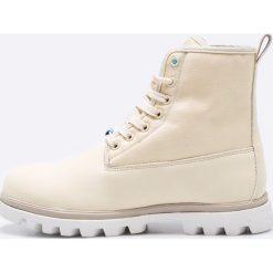 Native - Botki Johnny Treklite. Szare buty zimowe damskie Native, z materiału, z okrągłym noskiem, na obcasie, na sznurówki. W wyprzedaży za 299,90 zł.