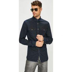 Tom Tailor Denim - Koszula. Szare koszule męskie jeansowe marki TOM TAILOR DENIM, l, z klasycznym kołnierzykiem, z długim rękawem. Za 219,90 zł.
