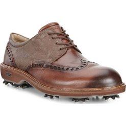 Golfy męskie: ECCO Men's Golf Lux – Brązowy – 39