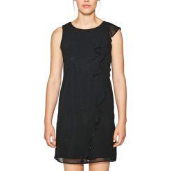 Sukienki hiszpanki: Gładka prosta sukienka mini bez rękawów