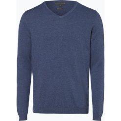 Finshley & Harding - Sweter męski, niebieski. Niebieskie swetry klasyczne męskie Finshley & Harding, l, z bawełny. Za 129,95 zł.