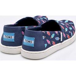Toms - Tenisówki dziecięce Classic. Szare buty sportowe dziewczęce Toms, z materiału. W wyprzedaży za 139,90 zł.