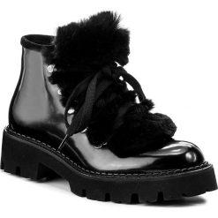 Botki BALDININI - 849096TSTLA00 F Nero. Czarne buty zimowe damskie Baldinini, z materiału, na obcasie. W wyprzedaży za 989,00 zł.