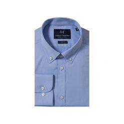 KOSZULA BLUE BUTTON DOWN. Czarne koszule męskie na spinki marki TOM TAILOR DENIM, l, z bawełny, button down, z długim rękawem. Za 149,99 zł.