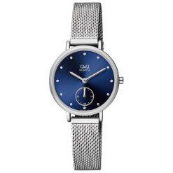 Zegarki damskie: Zegarek Q&Q Damski QA97-212 Fashion Mesh srebrny