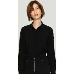 Koszula z lampasami - Czarny. Czarne koszule damskie Sinsay, l. Za 59,99 zł.