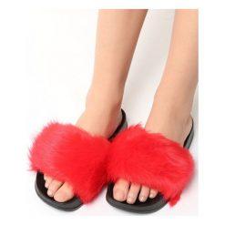 Chodaki damskie: Czerwone Klapki Hirsute