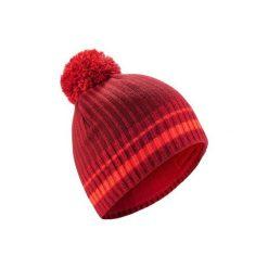 Czapka narciarska RIB. Czerwone czapki damskie marki WED'ZE, w kolorowe wzory, z elastanu. Za 29,99 zł.
