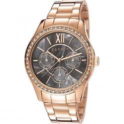 """Zegarek kwarcowy """"Paige"""" w kolorze perłowobrązowo-różowozłotym. Żółte, analogowe zegarki damskie Esprit Watches, ze stali. W wyprzedaży za 318,95 zł."""