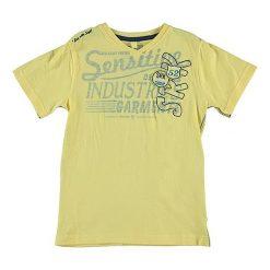 T-shirty chłopięce z nadrukiem: Koszulka w kolorze żółtym