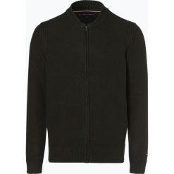 Tommy Hilfiger - Kardigan męski, zielony. Czarne swetry rozpinane męskie marki TOMMY HILFIGER, l, z dzianiny. Za 599,95 zł.