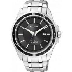 ZEGAREK CITIZEN Titanium BM6930-57E. Czarne zegarki męskie CITIZEN, ze stali. Za 980,00 zł.