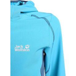 Jack Wolfskin TURBULENCE GIRLS Kurtka Softshell turquoise. Niebieskie kurtki damskie softshell marki Jack Wolfskin, z elastanu. Za 229,00 zł.
