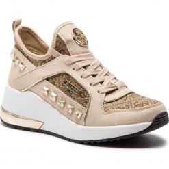 Sneakersy GUESS - FL5JUL FAL12 BEIBR BROWN. Brązowe sneakersy damskie marki Guess, z materiału. Za 629,00 zł.