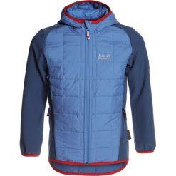 Jack Wolfskin GRASSLAND HYBRID Kurtka Softshell wave blue. Niebieskie kurtki chłopięce sportowe marki bonprix, z kapturem. W wyprzedaży za 341,10 zł.