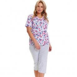 Piżama w kolorze szarym ze wzorem - t-shirt, spodnie. Szare piżamy damskie Doctor Nap, l. W wyprzedaży za 82,95 zł.