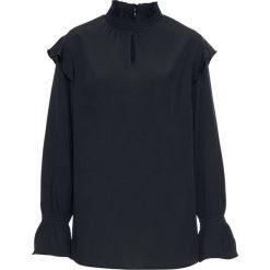Bluzka z falbanami bonprix czarny. Czarne bluzki z odkrytymi ramionami bonprix. Za 59,99 zł.
