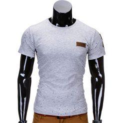 T-shirty męskie: T-SHIRT MĘSKI Z NADRUKIEM S691 – SZARY