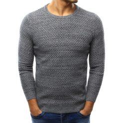 Swetry klasyczne męskie: Sweter męski szary (wx0998)
