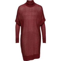 Sweter z golfem oversize bonprix czerwony kasztanowy. Czerwone golfy damskie bonprix. Za 89,99 zł.