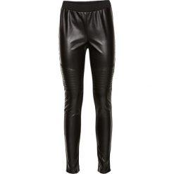 Legginsy z materiału w optyce skóry bonprix czarny. Czarne legginsy skórzane bonprix. Za 124,99 zł.