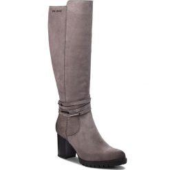 Kozaki EVA MINGE - Maracena 4O 18SM1372496EF 409. Szare buty zimowe damskie Eva Minge, z nubiku, na obcasie. W wyprzedaży za 439,00 zł.