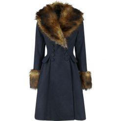 Hell Bunny Roxy Coat Płaszcz damski niebieski/brązowy. Brązowe płaszcze damskie pastelowe Hell Bunny, xl, z materiału. Za 649,90 zł.