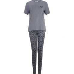 Piżamy damskie: Pieces PCCAILIN XMAS RIBBON SET Piżama medium grey melange