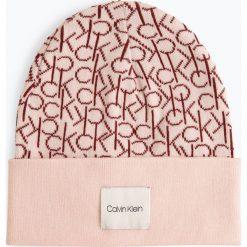 Calvin Klein - Czapka damska, czerwony. Czerwone czapki damskie marki Calvin Klein, z bawełny. Za 179,95 zł.
