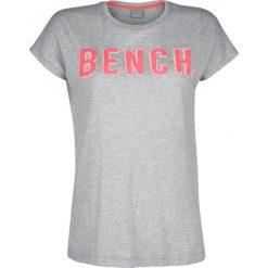 Bench New Logo Tee Koszulka damska szary. Szare bluzki nietoperze Bench, l, z nadrukiem, z okrągłym kołnierzem. Za 62,90 zł.