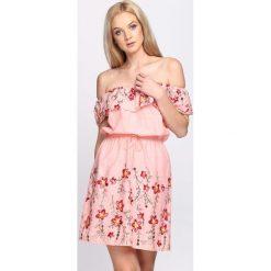 Sukienki: Różowa Sukienka Maxi Floral
