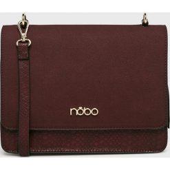 Nobo - Torebka. Brązowe torebki klasyczne damskie Nobo, w paski, z materiału, średnie. W wyprzedaży za 199,90 zł.
