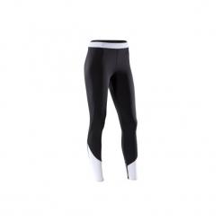 Legginsy fitness kardio 120 damskie. Czarne legginsy damskie do fitnessu DOMYOS, l, z elastanu. Za 49,99 zł.