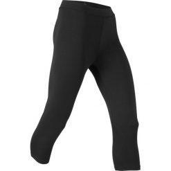 Legginsy sportowe 3/4, Level 1 bonprix czarny. Czarne legginsy damskie do fitnessu bonprix. Za 69,99 zł.