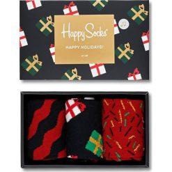 Happy Socks - Skarpetki Giftbox Christmas Melody (3-pack). Brązowe skarpetki damskie Happy Socks. W wyprzedaży za 99,90 zł.
