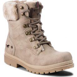 Trapery MUSTANG - 43C089 Beżowy. Brązowe buty zimowe damskie Mustang, z materiału. Za 249,00 zł.
