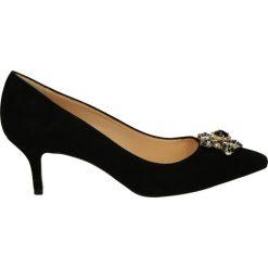 Buty ślubne damskie: Czółenka - 1371 CAM NERO