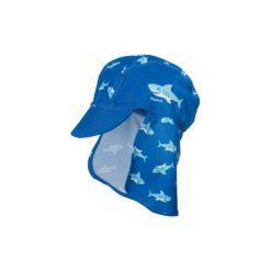 Playshoes  Boys Czapka Rekin kolor marine - niebieski. Niebieskie czapeczki niemowlęce marki Playshoes, z elastanu. Za 42,00 zł.