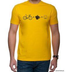 Koszulka T-SHIRT Kawa + szosa = :). Czarne t-shirty męskie z nadrukiem marki Pakamera, m, z kapturem. Za 69,00 zł.